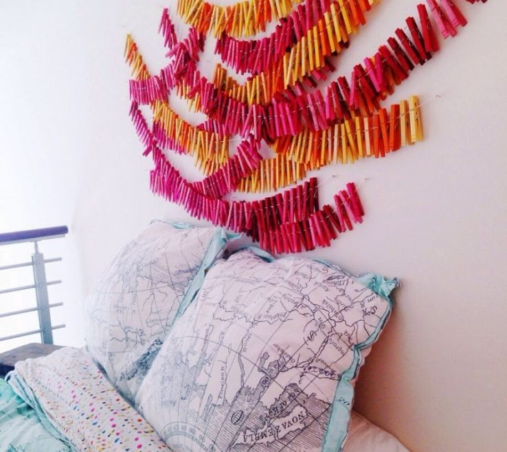 Adorable Clothespin Art Of Anthropologie Inspired Wall Diy Your Biggest Fan