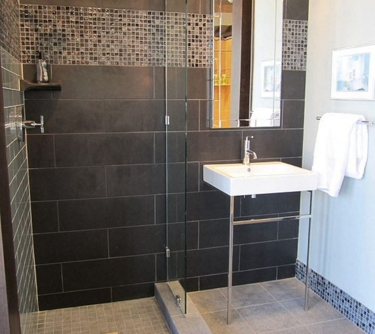 Alluring Modern Bathroom Shower Of Elegant And Tile Master Bath Ideas