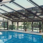 Artistic Indoor Outdoor Pool Enclosure