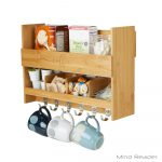 Artistic Wall Mounted Kitchen Shelf Of Mind Reader In L