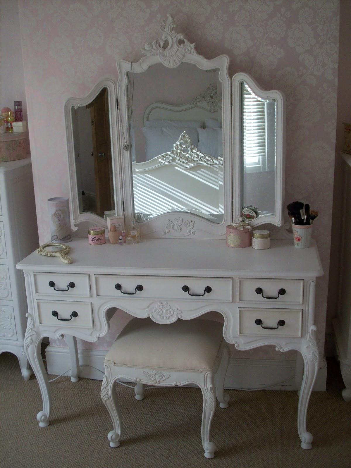 Black Antique Wood Makeup Vanity Table With Mirror And Bench Saubhaya Makeup