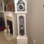 Astounding Funky Grandfather Clock Of Painted In Age Old White