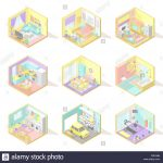 Astounding Home Interiors Kids Of Vector Big Set Of Isometric Living Room