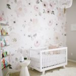 Astounding Kids Room Wallpaper Ideas Of Watercolor Flower Jolie In Pink And Gray