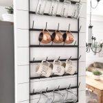 Astounding Wall Mounted Kitchen Shelf Of Metal Shelves Mount Hanging Hooks Open Shelving