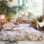 Attractive Bed In Floor Of Bohemian Bedroom Ideas