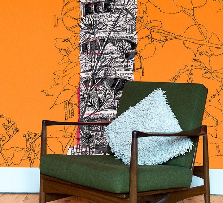 Attractive Orange Interior Design Of Purdown Tower On Orange