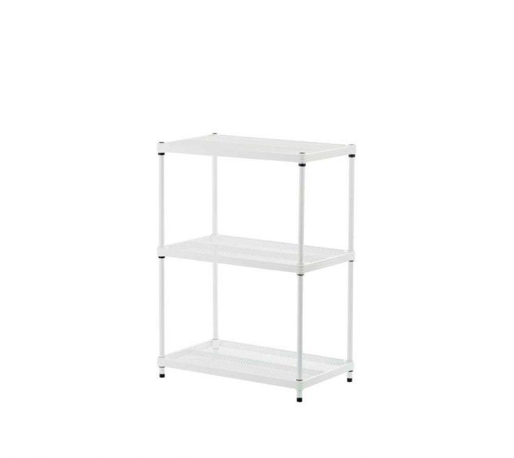 Attractive Shelving Units Ideas Of Design Meshworks Shelf Metal White Freestanding Unit
