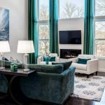Attractive Turquoise Living Room Ideas Of Brown