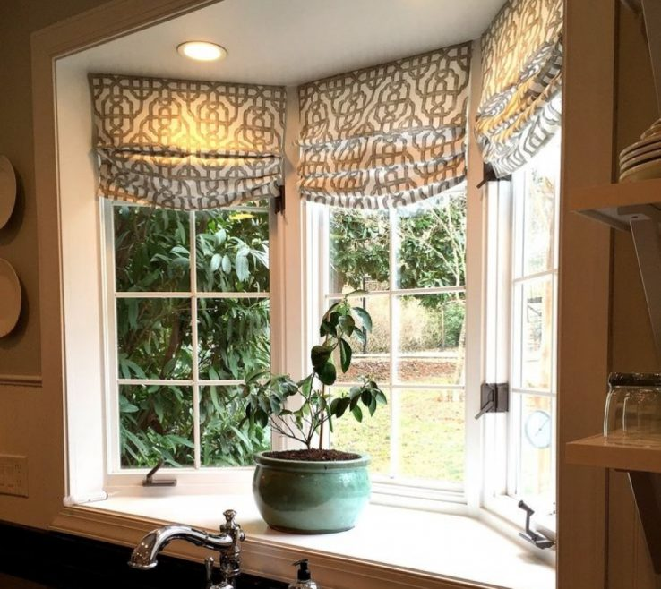 Awesome Bay Window Decorations Of Kitchen Decorating Ideas Best Treatments Images