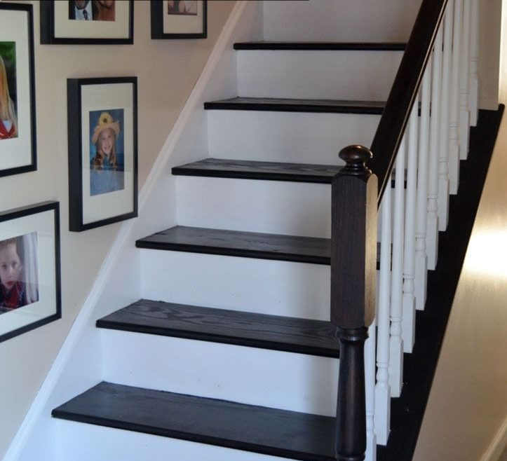 Awesome Cheap Stair Tread Ideas Of Diy Staircase Makeover Is Easier Than You