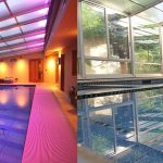 Awesome Indoor Outdoor Pool Enclosure Of Day andamp Night