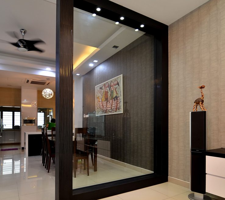 Beautiful Dividers For Living Room Of Wooden Partition With Glass To Separate Dining