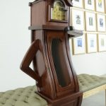 Beautiful Funky Grandfather Clock Of This Takes A Seat While It Checks