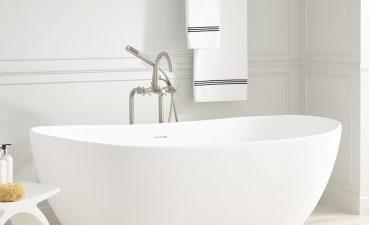 Beautiful Modern Bathtub Of Winifred Resin Freestanding Tub Matte Finish