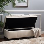 Bench Seats For Living Room Of Fabric Storage Seat Tufted Ottoman Decor Removable