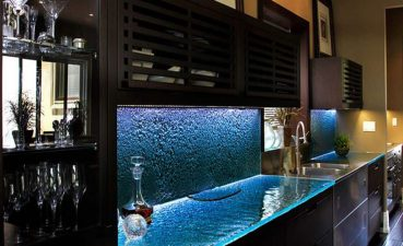 Brilliant Kitchen Glass S Of In Blue Colors Under Brown S