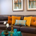 Brown And Orange Decor Of Get Fantastic Living Room Ideas On Home