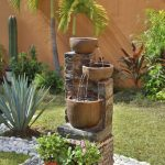Captivating Fountain For Front Yard Of Image Result Jardines Modernos Con Palmas Garden
