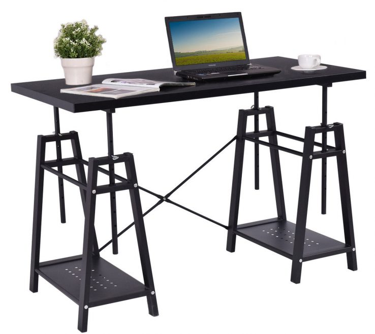 Captivating Height Puter Desk Of Giantex Modern Table Pc Study Writing