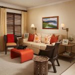 Charming Brown And Orange Decor Of Image Of Living Room Table