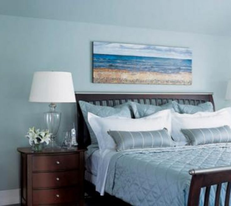 Charming Teal Blue Bedroom Decor Of Beach