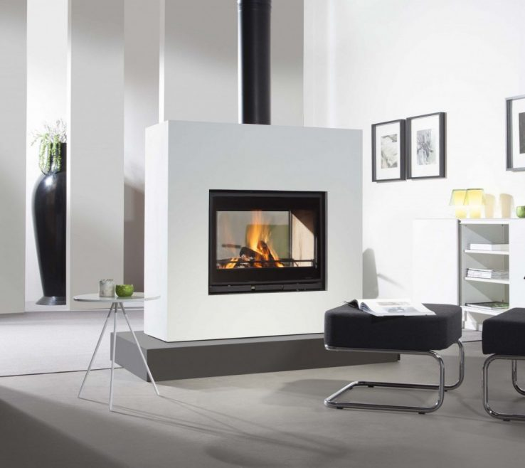 Cool Contemporary Wood Burning Fireplace Of Wood Burning Closed Hearth Double Sided