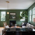 Dark Green Living Room Of Colour Trend Leafy Greens A Roomsgreen Roomsliving