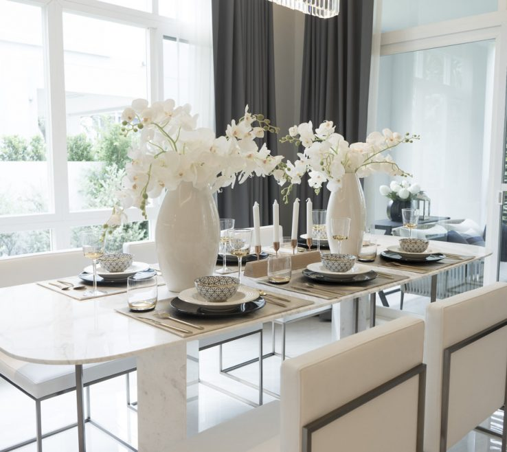 Dining Room Table Design Of Bright Modern With A Dainty Looking