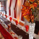Elegant Brown And Orange Decor Of Orange White Red Wedding In London Ontario