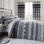 Enchanting Dark Grey Bedding Sets Of Reverie Duvet Quilt Cover Set