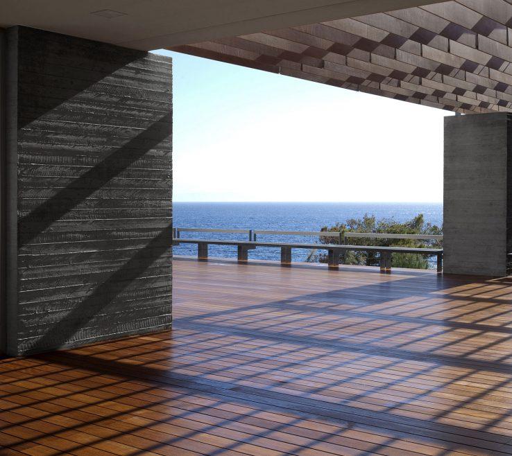 Enchanting Outdoor Balcony Flooring Of Modern Contemporary Design With Wooden Floor