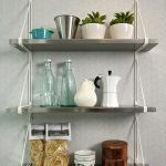 Enchanting Wall Mounted Kitchen Shelf Fy Metal Shelves F Wide Stained
