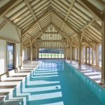Endearing Indoor Outdoor Pool Enclosure Of Green Oak Timber Framed Swimming Extension