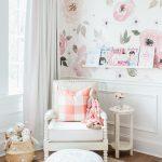Endearing Kids Room Wallpaper Ideas Of Girl Nursery Monika Hibbs Lillya Grace