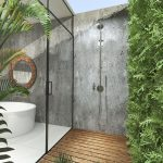 Endearing Outdoor Shower Floor Ideas