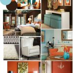 Enthralling Brown And Orange Decor Of Colors To Go With Burnt Curtains