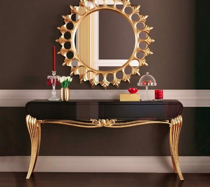 Entryway Console Table Ideas Of Furniture The Black Gold Leaf