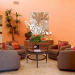 Exquisite Brown And Orange Decor Of Living Room Classy Living Room Ideas