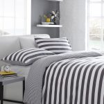 Exquisite Dark Grey Bedding Sets Of Gray And White Striped Stripe Jersey