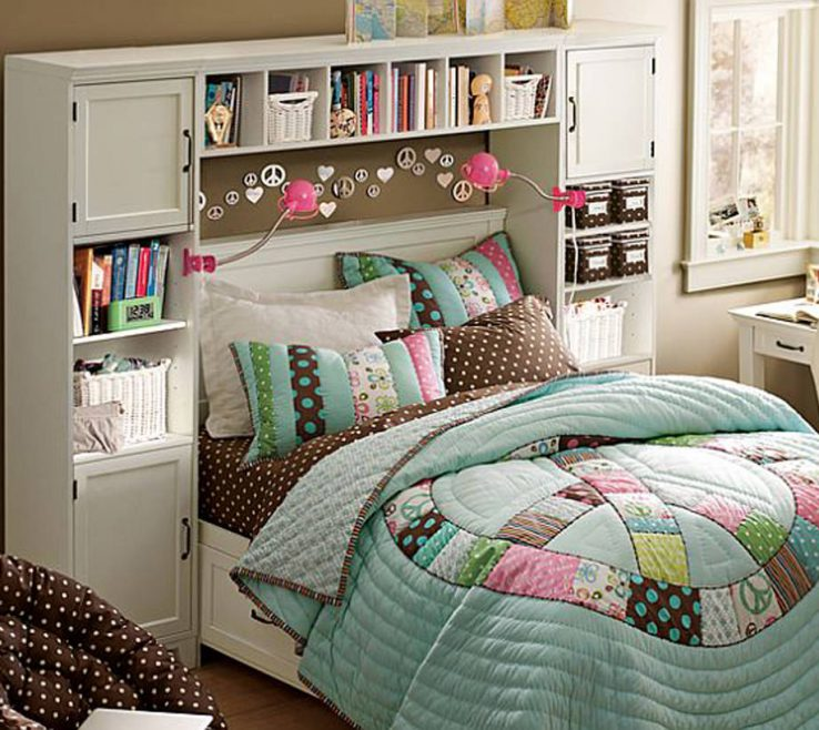 Fascinating Room Decor Ideas For Teenage Girl Of Bedroom Small Bedroom Headboard Storage