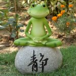 Feng Shui Garden Decor Of Wonderland Frog Sitting On Stone