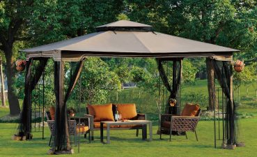 Furniture For Gazebo Of Enchanting Garden Design With Unique Gazebo