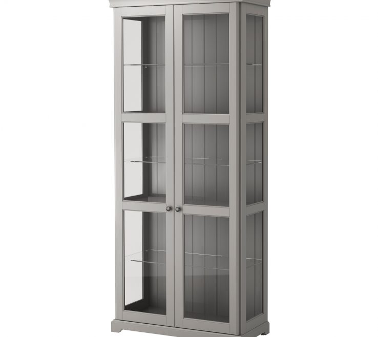 Impressing Cupboards With Glass Doors Of Ikea Detolf Display Case Dining Room