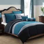 Impressing Dark Grey Bedding Sets Of Blue And Style