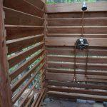 Impressing Outdoor Shower Cabin Of Pleted