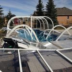 Indoor Outdoor Pool Enclosure Of Best Materials To Construct Dome Covers