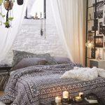 Ing Bed In Floor Of Bohemian Bedroom Ideas