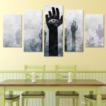 Ing Framed Objects Wall Art Of Hd Printed Strange Eye Hands Rise