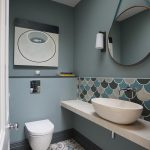 Ing Small Bathroom Tile Ideas Of Kew Ground Floor Wc With Fired Earth